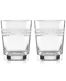 kate spade new york Wickford Double Old-Fashioned Glasses, Set of 2