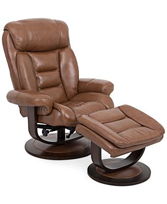 eve leather recliner with ottoman - furniture - macy's