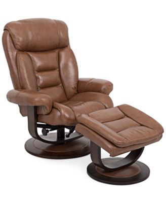 Eve Leather Recliner with Ottoman  sc 1 st  Macyu0027s : lane chair and a half recliner - islam-shia.org