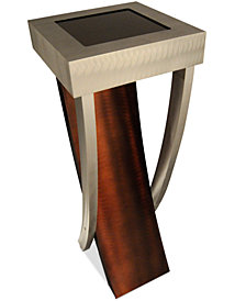 Nova Lighting Boar Pedestal Aluminum & Wood Floor Lamp