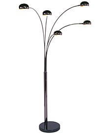 Mushroom 5 Light Steel Arc Floor Lamp