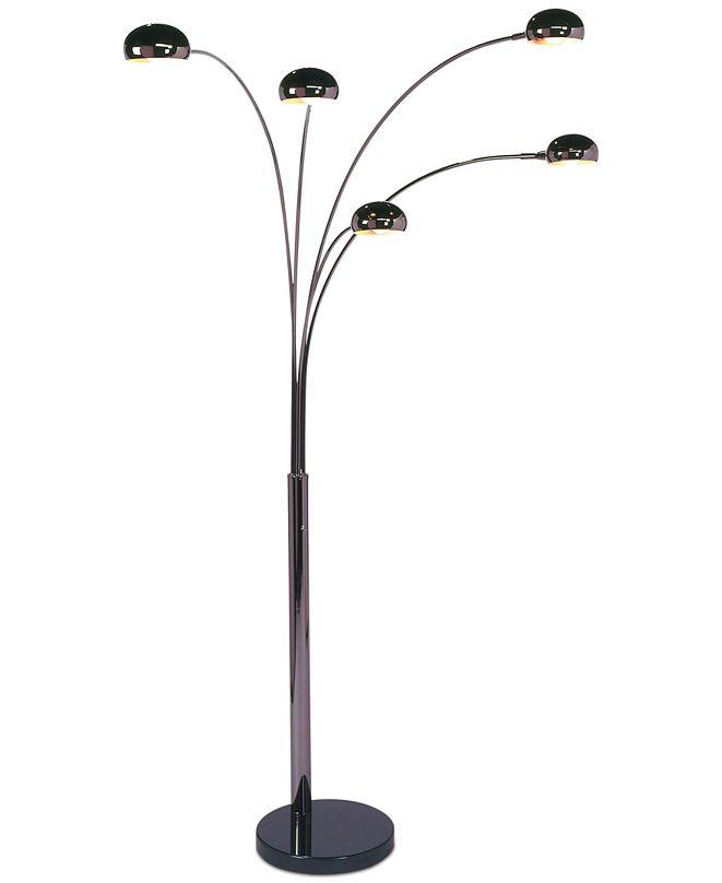 Nova Lighting Mushroom 5 Light Steel Arc Floor Lamp