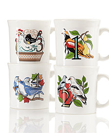 Fiesta Twelve Days of Christmas Set of 4 Mugs, First series in a series of Three