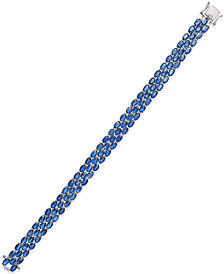Sapphire Three-Row Bracelet (25 ct. t.w.) in Sterling Silver, Created for Macy's