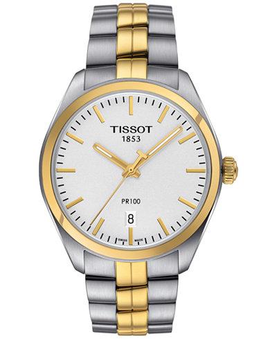 Tissot Women's Swiss PR 100 Two-Tone Stainless Steel Bracelet Watch 33mm T1012102203100