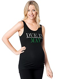 Due in May™ Maternity Graphic Tank Top