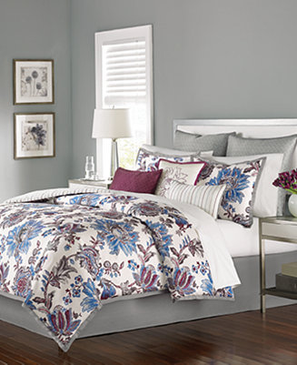 CLOSEOUT Martha Stewart Collection Austen 9 Pc Full Comforter Set Bed In