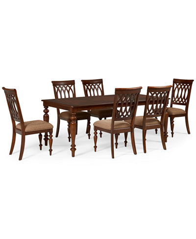 Crestwood 7-Piece Dining Room Furniture Set (Dining Table and 6 ...