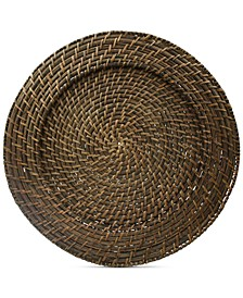 Jay Import Rattan Round Charger, Set of 4