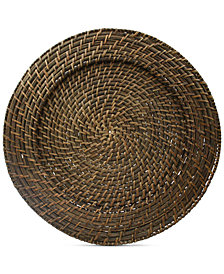 Jay Imports Rattan Round Charger, Set of 4
