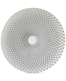 Jay Import Glass Spiro Silver-Tone Charger Plate