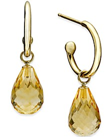 Citrine Hoop Earrings (6-1/2 ct. t.w.) in 14k Gold (Also in Blue Topaz, Rhodolite Garnet & Amethyst)
