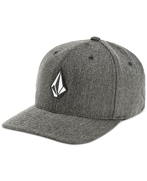 best website 9d5c6 5fc2c ... france volcom mens flex fit heathered logo hat hats gloves scarves  0209d 5d083