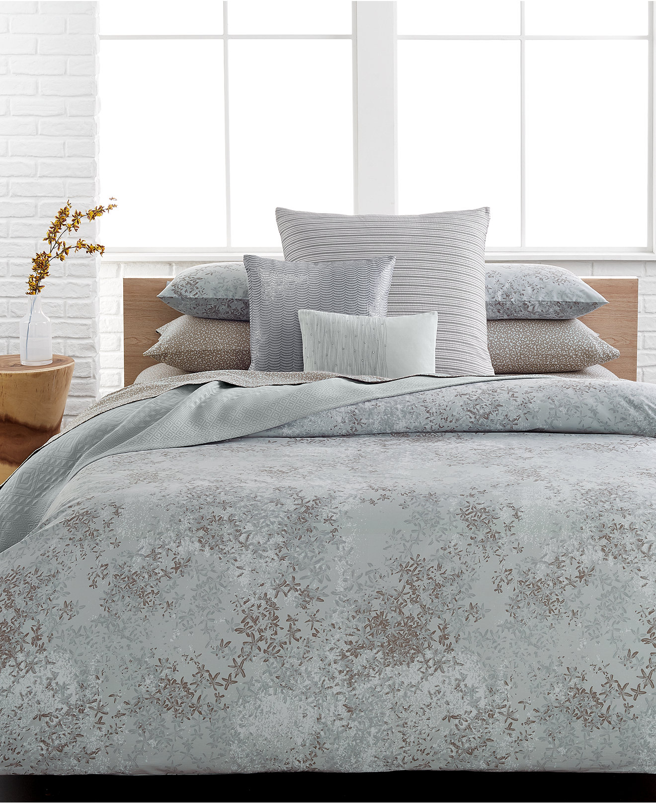 Calvin Klein Home Duvet Cover Sweetgalas - Brown pattern bedding double duvet set calvin klein bamboo bedding