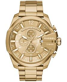Men's Chronograph Mega Chief Gold-Tone Stainless Steel Bracelet Watch 59x51mm DZ4360