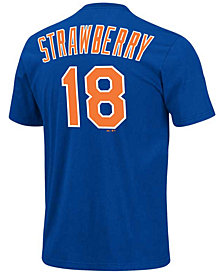 Majestic Men's Darryl Strawberry New York Mets Cooperstown Player T-Shirt