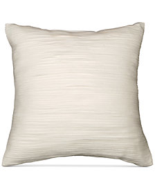 "CLOSEOUT! Donna Karan  Silk Essentials Pearl 12"" Square Flutter Decorative Pillow"