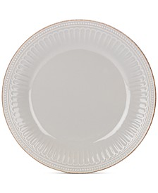 Dinnerware Stoneware French Perle Groove Dove Grey Dinner Plate, Created for Macy's