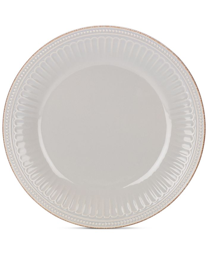 Lenox - Stoneware French Perle Groove Dove Grey Dinner Plate, A Macy's Exclusive
