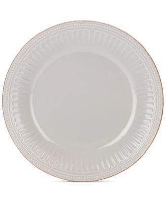 main image; main image ...  sc 1 st  Macyu0027s & Lenox Dinnerware Stoneware French Perle Groove Dove Grey Dinner ...