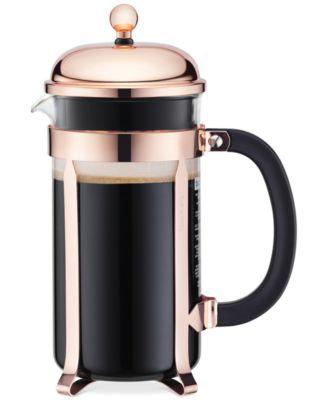 Bodum Clic Chambord Copper 8 Cup French Press Coffee Maker Tea Espresso Kitchen Macy S