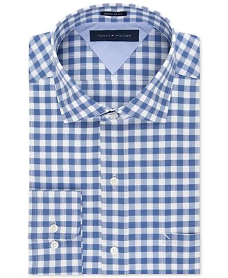 Tommy Hilfiger Easy Care Indigo Gingham Dress Shirt