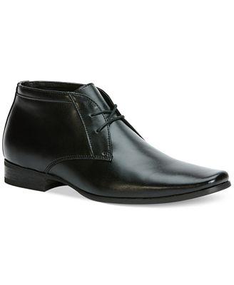 Calvin Klein Ballard Leather Boots - All Men\'s Shoes - Men - Macy\'s
