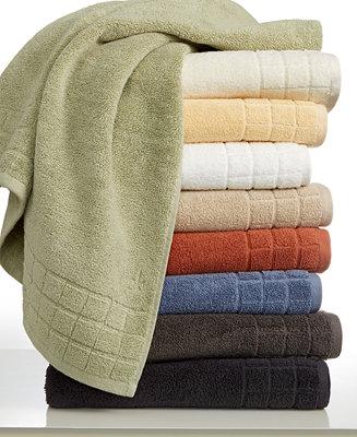 Calvin Klein Sculpted Grid Bath Towel Collection Bath