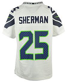 Nike Kids' Richard Sherman Seattle Seahawks Game Jersey, Big Boys (8-20)