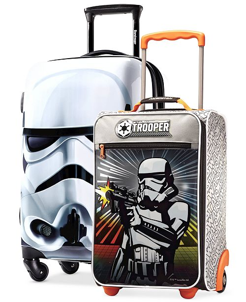 Stormtrooper Armor Makes Fine Protection For Your Belongings As Demonstrated By This Disney Licensed Star Wars Luggage Set From American Tourister