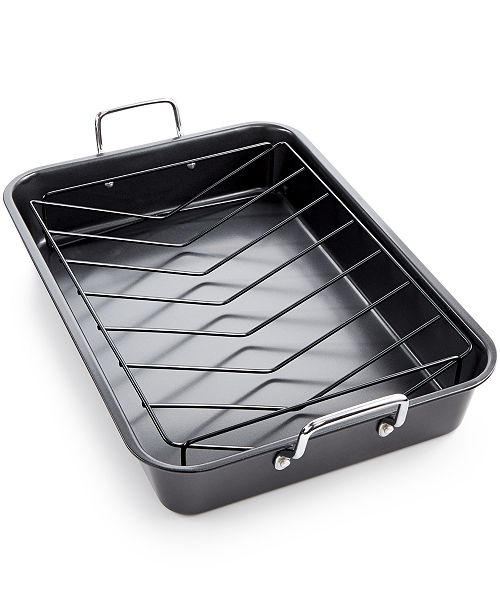 Tools of the Trade Nonstick Roaster & Rack, Created for Macy's