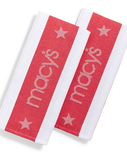 Classic Star Dish Towel Set Created For Macy S