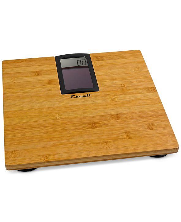 Escali Solar Bamboo Bathroom Scale, 400lb