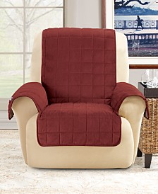 Sure Fit Deep Pile Polyester Velvet with Non-Skid Paw Print Pet Furniture Slipcover Collection