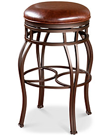 Bella Faux Leather Backless Bar Height Stool, Quick Ship