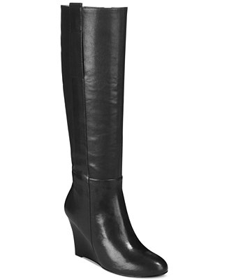 nine west oran wedge boots boots shoes macy s