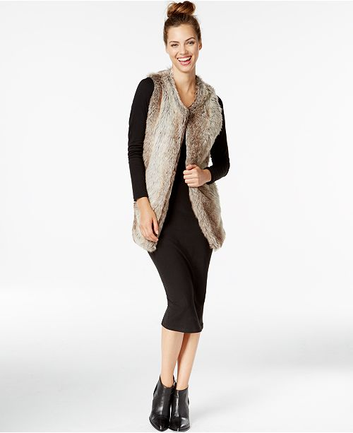 INC International Concepts I.N.C. Long Collarless Vest, Created for Macy's