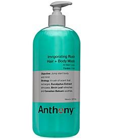 Men's Invigorating Rush Hair & Body Wash, 32 oz