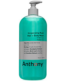 Anthony Men's Invigorating Rush Hair & Body Wash, 32 oz