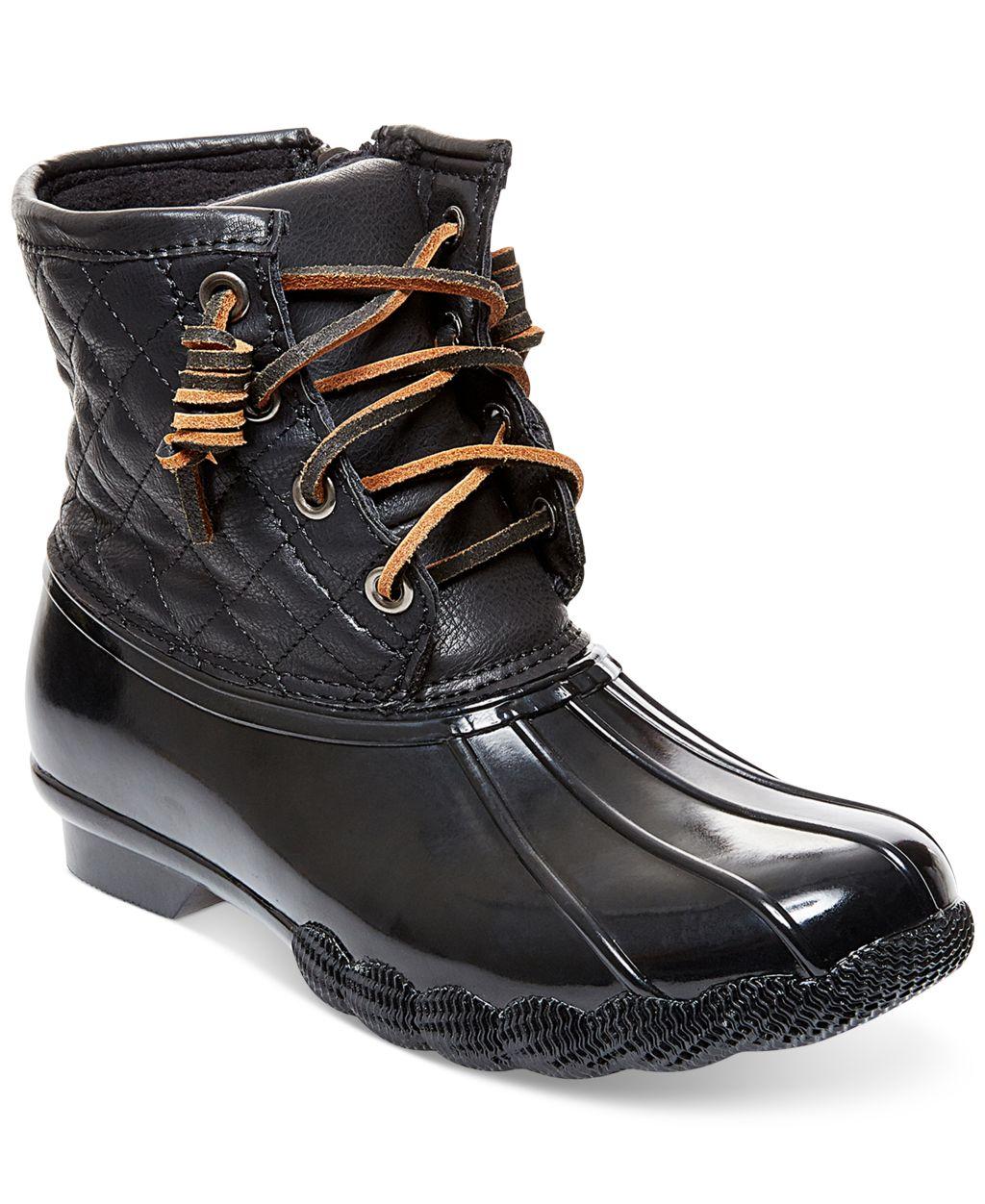 Steve Madden Leather/rubber Upper Tillis Duck Booties