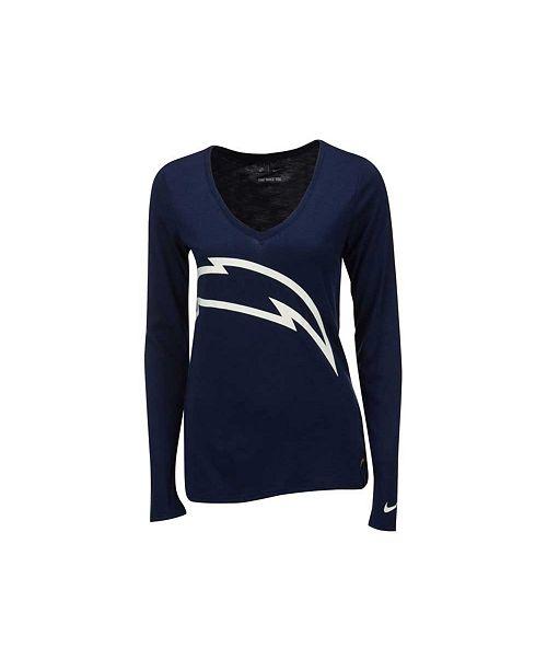 Nike Women's Long-Sleeve San Diego Chargers Logo Wrap T-Shirt