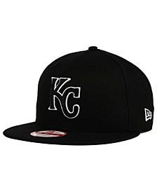 Kansas City Royals Black White 9FIFTY Snapback Cap