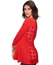 A Pea In The Pod Maternity Lace-Back Top