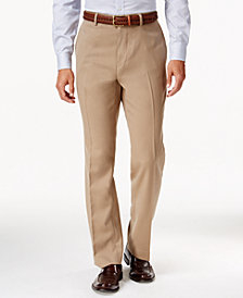 Louis Raphael Hidden Extention Straight-Fit Dress Pants