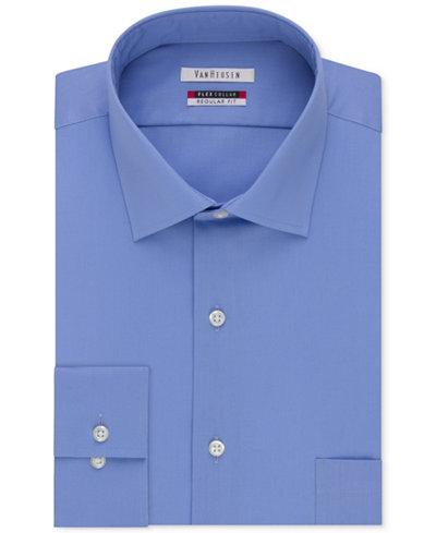 Van heusen men 39 s classic fit wrinkle free flex collar for Van heusen shirts flex collar