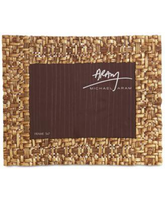 "Antique Gold-Tone 5"" x 7"" Palm Frame"