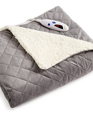 Closeout Biddeford Diamond Quilted Reversible Faux Sherpa