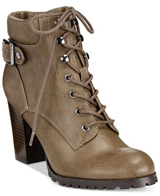 Style & Co Caitlin Lace-Up Combat Booties, Created for Macy's