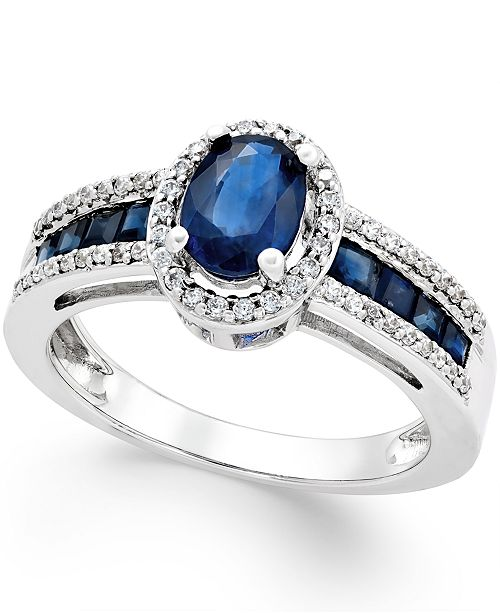 Macy's Sapphire (1-3/4 ct. t.w.) and Diamond (1/4 ct. t.w.) Ring in 14k Gold (Also in Emerald & Certified Ruby)
