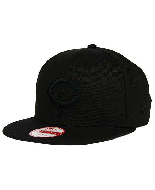 New Era Cincinnati Reds Black on Black 9FIFTY Snapback Cap